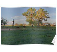 Grasslands at Golden Hour Poster