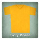 Retro Football Jersey Ivory Coast by Daviz Industries