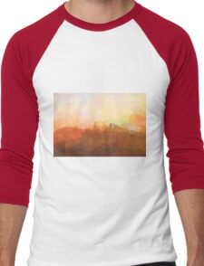 Alexandria, Virginia Skyline - In the clouds Men's Baseball ¾ T-Shirt