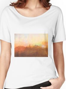 Alexandria, Virginia Skyline - In the clouds Women's Relaxed Fit T-Shirt