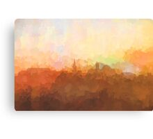 Alexandria, Virginia Skyline - In the clouds Canvas Print