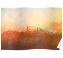 Alexandria, Virginia Skyline - In the clouds Poster