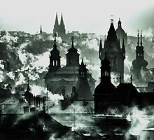 Rooftops smoke and spires by samandoliver