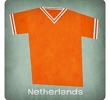 Retro Football Jersey Netherlands by Daviz Industries
