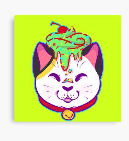 Cupcake Maneki-neko Canvas Print