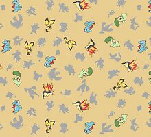 Chibi Pokemon Patterns! Johto/Generation 2 by Yuririi