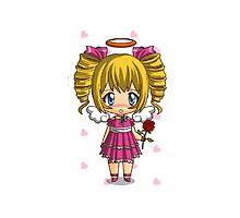 little cute pink chibi girl by MagicElisa