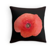 Large Red Poppy Throw Pillow