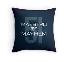 Maestro of Mayhem Throw Pillow