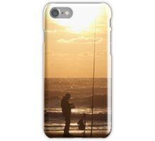 Fishing at Sunset  iPhone Case/Skin