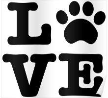 Love Paw Print Poster