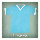 Retro Football Jersey Uruguay by Daviz Industries