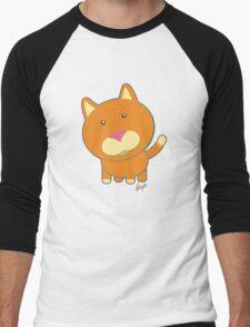 Carrot the Orange Kitty 1 Men's Baseball ¾ T-Shirt