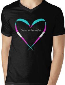Trans Is Beautiful Heart Mens V-Neck T-Shirt