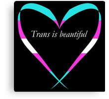 Trans Is Beautiful Heart Canvas Print