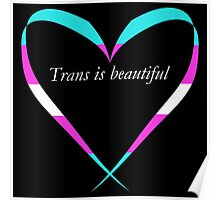 Trans Is Beautiful Heart Poster