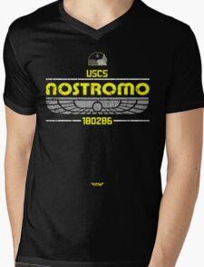 Alien Nostromo Distressed Mens V-Neck T-Shirt