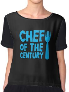 CHEF of the CENTURY! with kitchen fork Chiffon Top