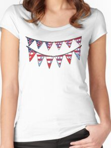 banner fourth of jully Women's Fitted Scoop T-Shirt