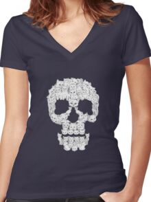 Skull Are for Pussies Women's Fitted V-Neck T-Shirt