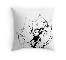 Sketched Peony Edit Throw Pillow