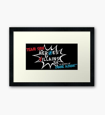 superhero 5k Framed Print