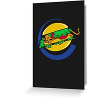 The Lion Burger King Greeting Card