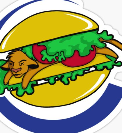 The Lion Burger King Sticker