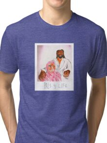Pink Guy and Black Jesus, Pals for Life Tri-blend T-Shirt