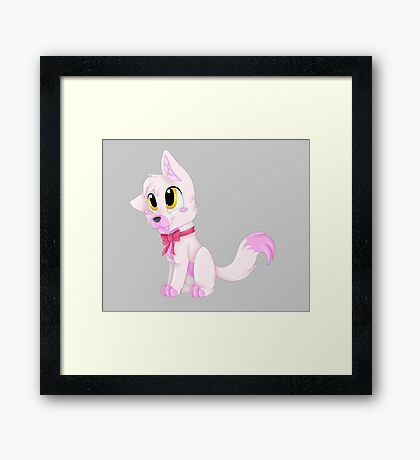 Adorable Pink Fox (FNAF Mangle) Framed Print