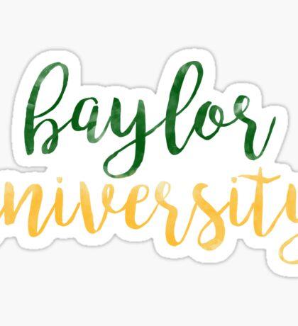 Baylor University/BU Watercolor Sticker
