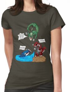 Old man Rayquaza losing it Womens Fitted T-Shirt