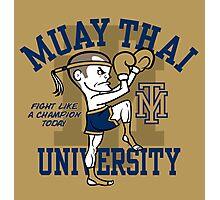 MUAY THAI UNIVERSITY Photographic Print