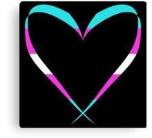 Trans Heart Pattern Canvas Print