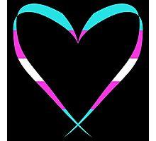 Trans Heart Pattern Photographic Print