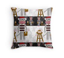 Beatnik Monkey Throw Pillow