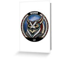 Owl Noctua Wild Totem Greeting Card