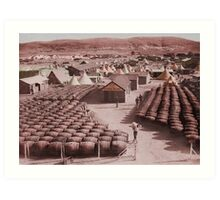 Barracks and Barrels WWI Art Print