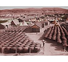 Barracks and Barrels WWI Photographic Print