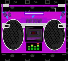 Cute Purple 80's Boombox by mytshirtfort
