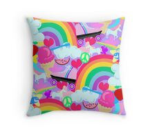 Girly 80's Pink Explosion Throw Pillow