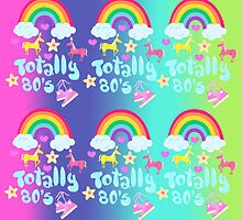 Totally 80's Slogan Pattern  by mytshirtfort