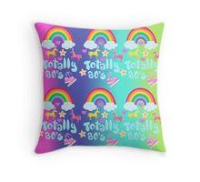 Totally 80's Slogan Pattern  Throw Pillow