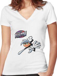 Danny Phantom  Women's Fitted V-Neck T-Shirt