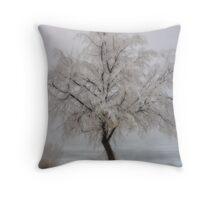 Frozen Winter Throw Pillow & Tote Bag Throw Pillow