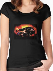 Desperado - A TrenaS and VivaChas Collaboration Women's Fitted Scoop T-Shirt