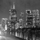 Melbourne Cyclist at Night by John Violet
