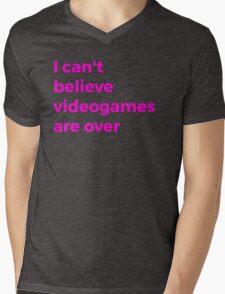 Videogames Are Over Mens V-Neck T-Shirt