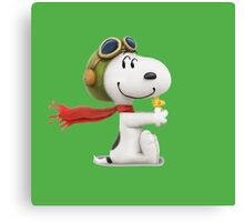 cute snoopy pillot  Canvas Print