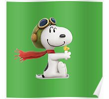 cute snoopy pillot  Poster